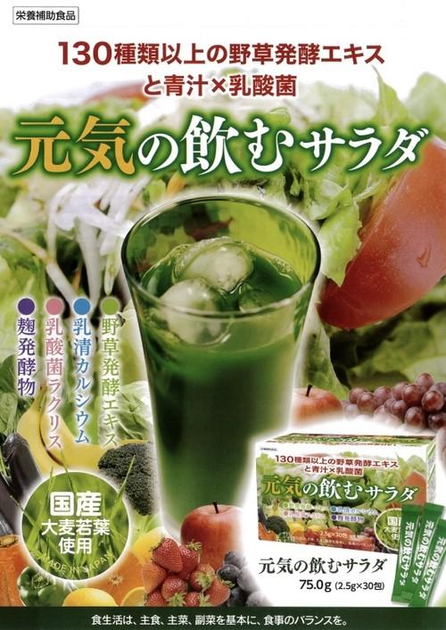 野菜不足に『飲むサラダ』健康補助食品 / 30包入り【元気の飲むサラダ】