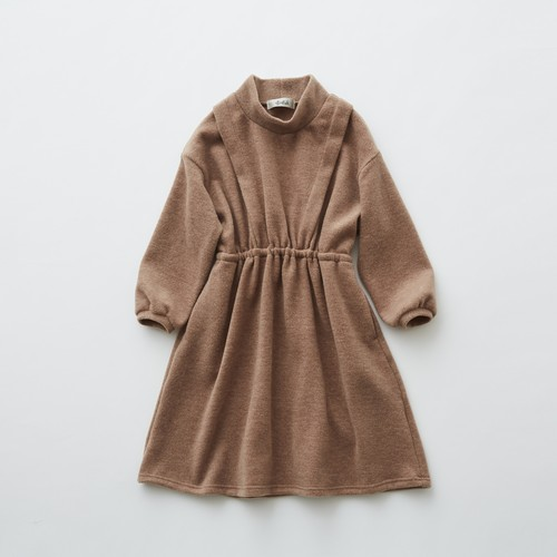 《eLfinFolk 2019AW》melange dress / camel / 110・120・130cm