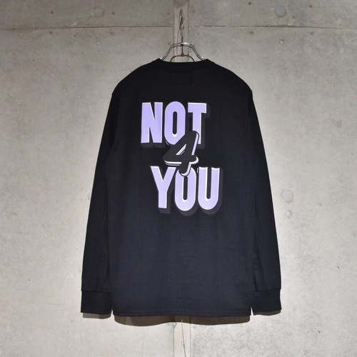 NOTHIN'SPECIAL NOT FOR YOU LONG SLEEVE / BLACK