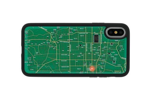 FLASH 京都回路地図 iPhoneX/XSケース 緑【東京回路線図A5クリアファイルをプレゼント】
