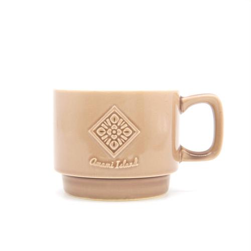 オリジナルマグカップ | ブラウン | 紬柄