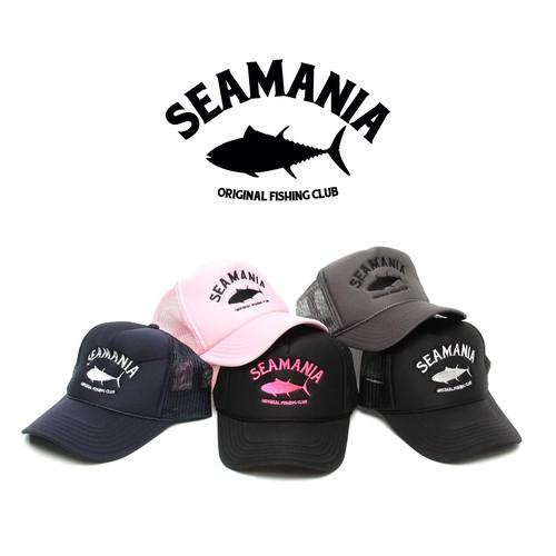 【Seamania】アーチロゴ刺繍メッシュCAP