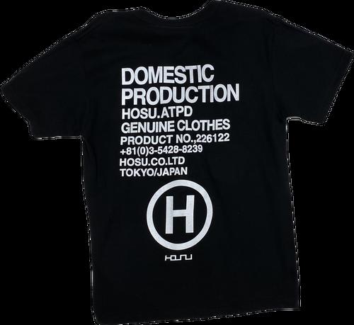 HOSU バックプリントTシャツ ブラック