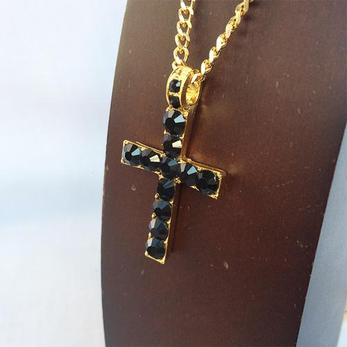 ジルコニア クロス 十字架 ブリンブリン 金 ゴールド ブラック 1289