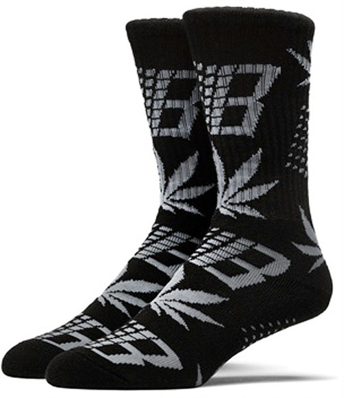 HUF X BRONZE JACQUARD KNIT SOCKS BLACK/GREY