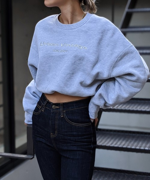 Volume cropped sweat top