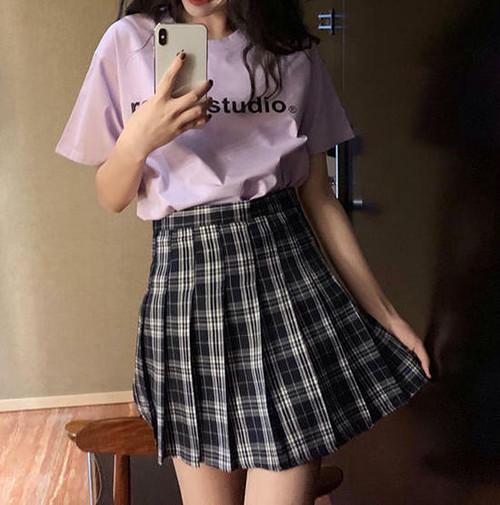 【送料無料】旬なチェック柄 ♡ スクール プレッピー 可愛い ミニ プリーツ スカート