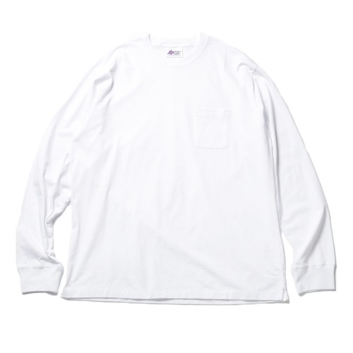 WHO's MAKING POCKET BIG LONG TEE(WHITE)(2L)