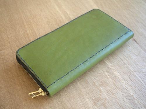 型紙001_ラウンドファスナー長財布