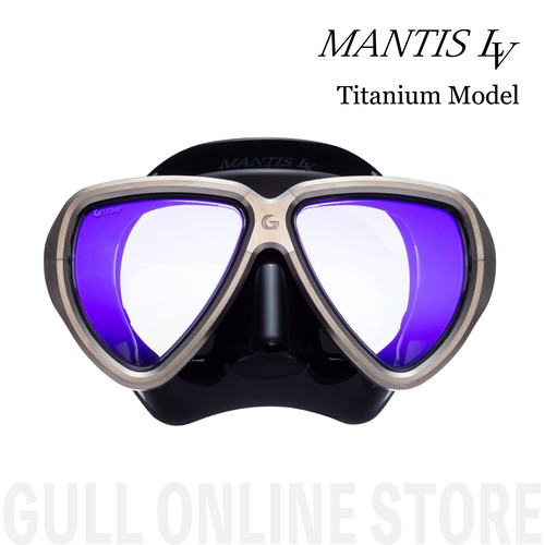 【残り3個】全世界で10個限定MANTIS LV [Titanium] GULL ガル ダイビングマスク