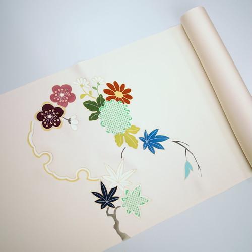 染帯 菊楓梅
