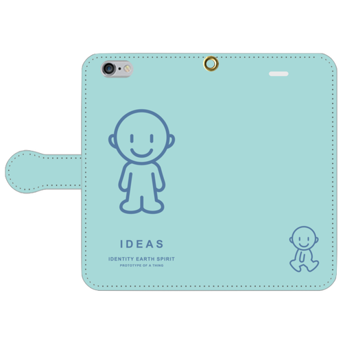 IDEAS/iPhone6/6s手帳型ケース 803-グリーン