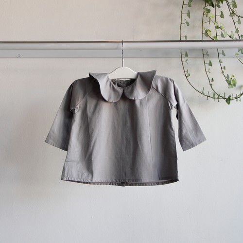 《AS WE GROW 2019AW》Peter Pan shirt long sleeve / grey