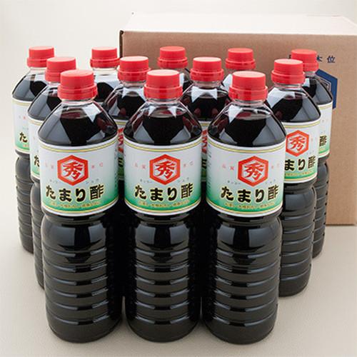たまり酢1ℓ 12本入れ(酢入り醤油)