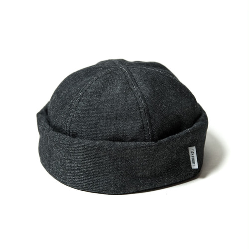 Tightbooth DENIM ROLL CAP BLACK DENIM L タイトブース