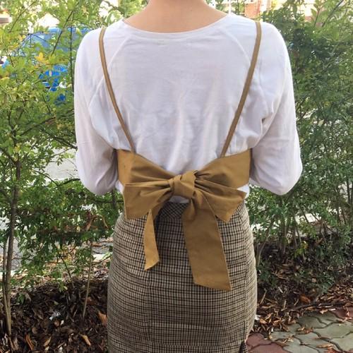 back ribbon bustier
