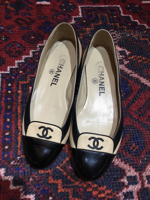 .CHANEL COCO MARC BICOLOR LEATHER PUMPS MADE IN ITALY/シャネルココマークバイカラーレザーパンプス 2000000033587