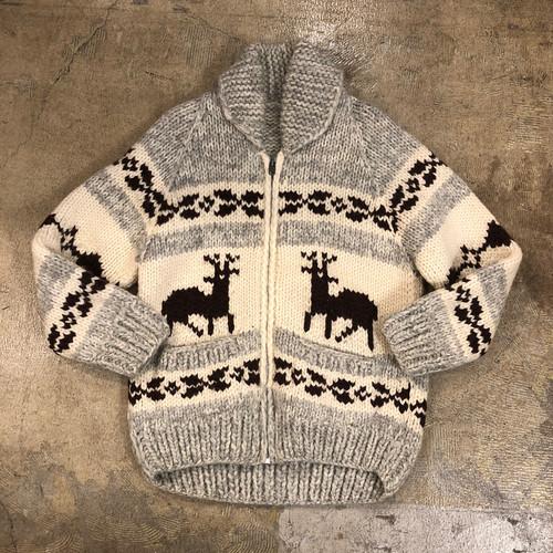 Cowichan Reindeer Zip Sweater ¥10,800+tax