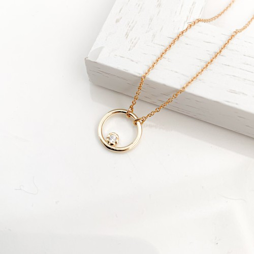 Cubic Zirconia circle necklace