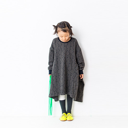 3PATTERNS SWITCHING SWEAT DRESS / LL
