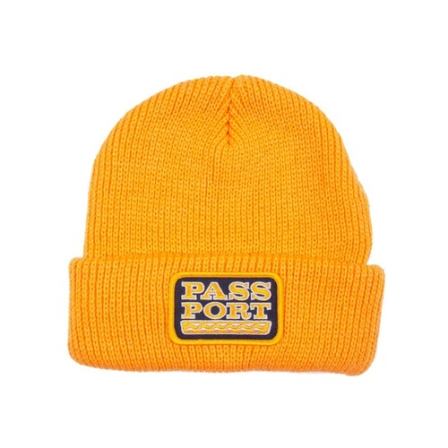 PASS PORT / AUTO PATCH BEANIE -GOLD-