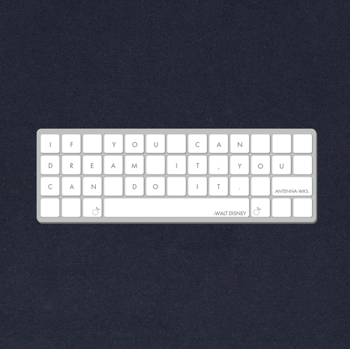 キーボード(ウォルト・ディズニー)Tシャツ/ネイビー【CWE-072NV】