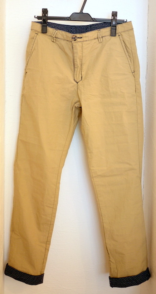 REDSOUL REVERSIBLE TROUSERS BEIGE