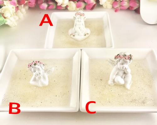 レムリアンシード粉を敷き詰めた天使の浄化皿