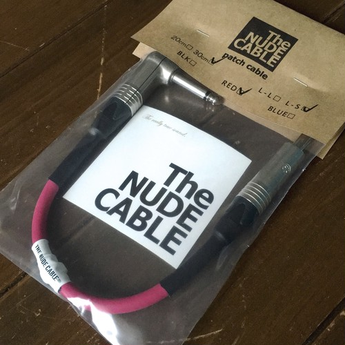 NUDE CABLE パッチケーブル 30cm L-S レッド