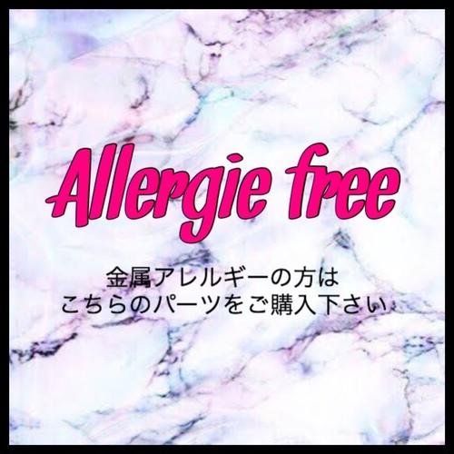 【フックピアス】金属アレルギー対応