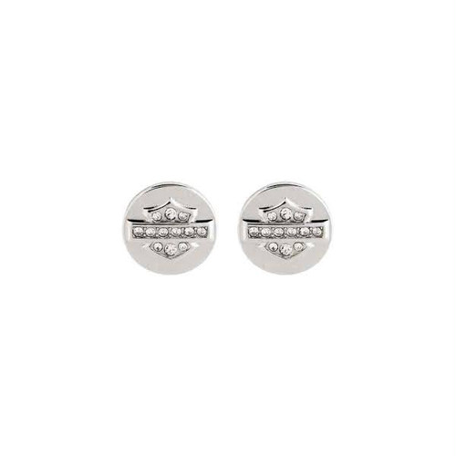 Rhinestone Logo Post Earrings(LIMITED EDITION )