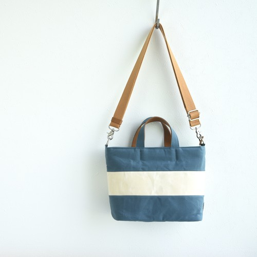 WIDE BORDER TOTE FS (2WAY)/ CYAN BLUE