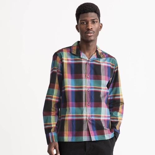 Black Madras Plaid Shirt