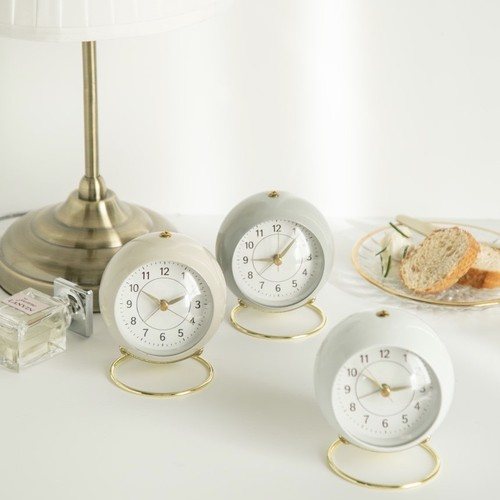 round retro alarm clock 3colors / レトロ アラームクロック 目覚し時計 置き時計 韓国雑貨