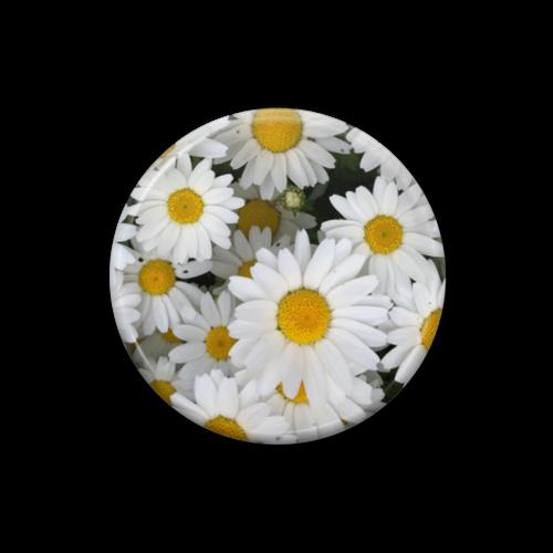 オリジナル缶バッチ(FLOWER・白)