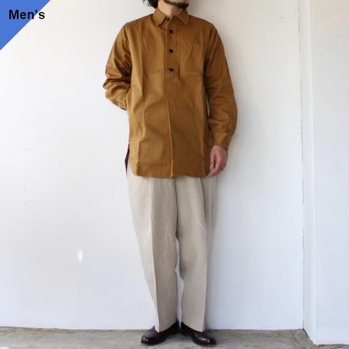 【再入荷】Yarmouth Oilskins ワーカーシャツ The Worker Shirt カーキブラウン