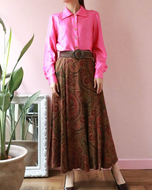 Paisley long skirt
