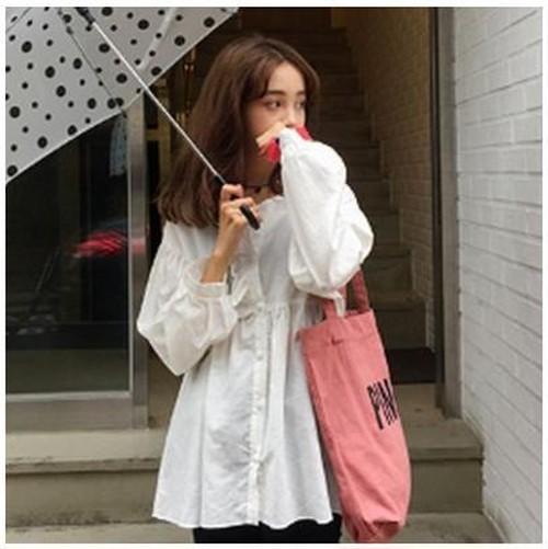 カラー ロゴ キャンバス カジュアル トート バッグ かわいい 帆布 A4サイズ iPadが入る ピンク gdab245