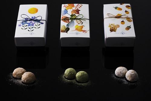 小米雪三色セット (和三盆、きな粉、抹茶)