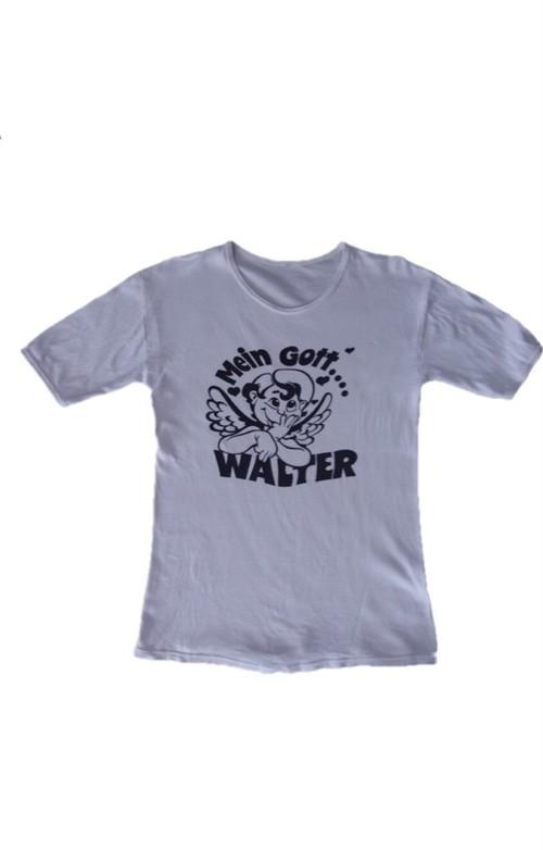 70's Mein Gott WALTER Print T-Shirts(白)