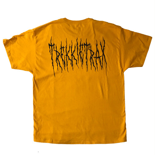Black Metal Logo Tee (Yellow×Black)