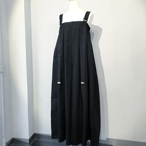 wide pants salopette / black 【kanashi】