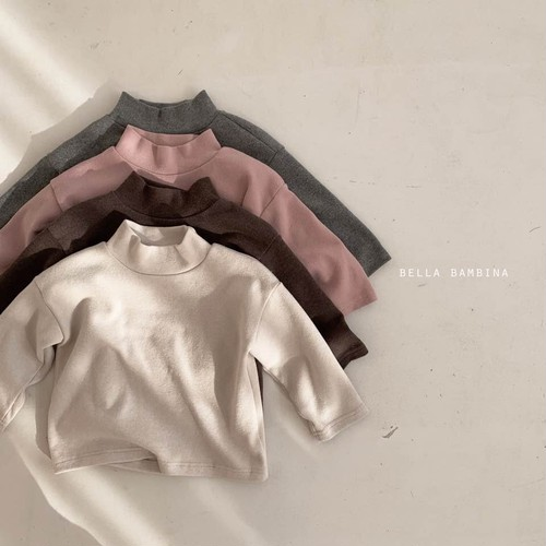 =sold out= plain high-neck T-shirt〈BELLA BAMBINA〉