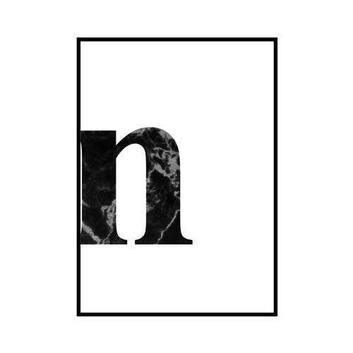 """n"" 黒大理石 - Black marble - ALPHAシリーズ [SD-000541] A4サイズ ポスター単品"