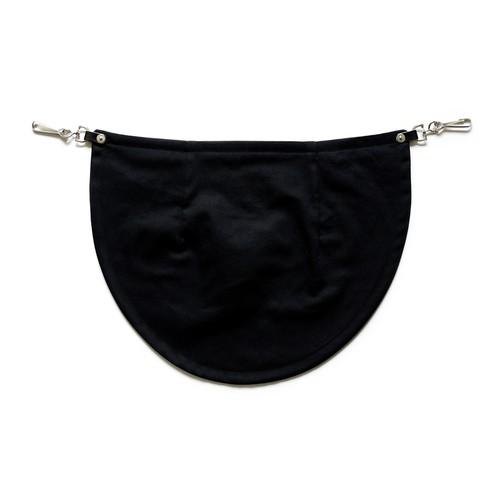 bum flap black twill