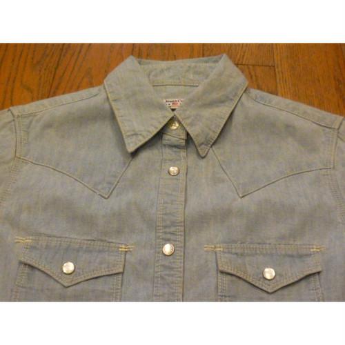 Polo Jeans Company(RALPH LAUREN)の古着シャンブレーシャツ【クリックポスト利用で送料無料】