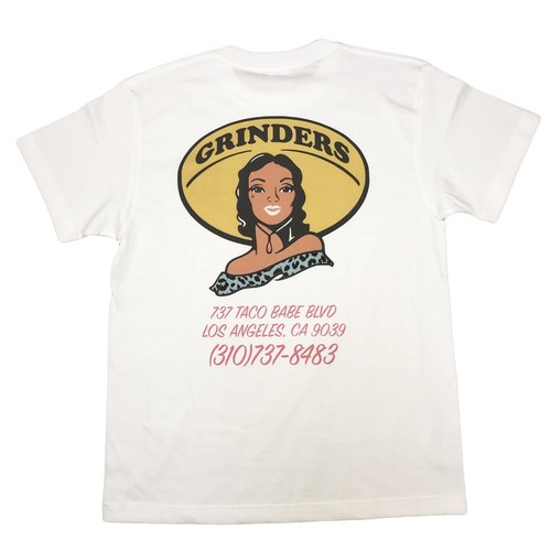 GRINDERS Taco Babe Tee (White)