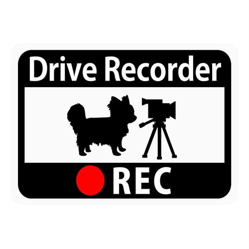 ドライブレコーダー搭載ステッカーマグネット/チワワ