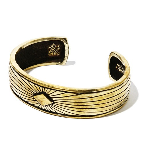 EMISSION BANGLE narrow (GOLD) / RUDE GALLERY BLACK REBEL