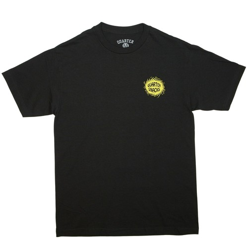 QUARTER SNACKS SURF SHOP TEE BLACK